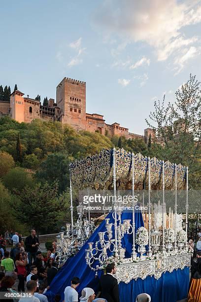 Semana Santa en Granada, Jueves Santo. Cofradía de Nuestro Padre Jesús de la Pasión y María Santísima d Holy Week in Granada, Holy Thursday....