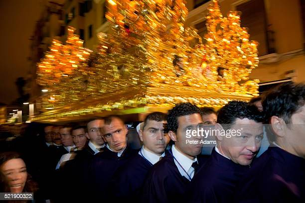 semana santa fiesta easter malaga andalucia spain - peter adams stock pictures, royalty-free photos & images