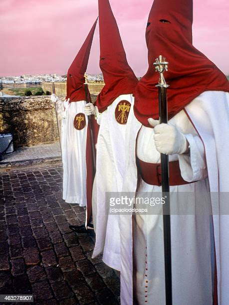 semana santa - penitente people stock pictures, royalty-free photos & images