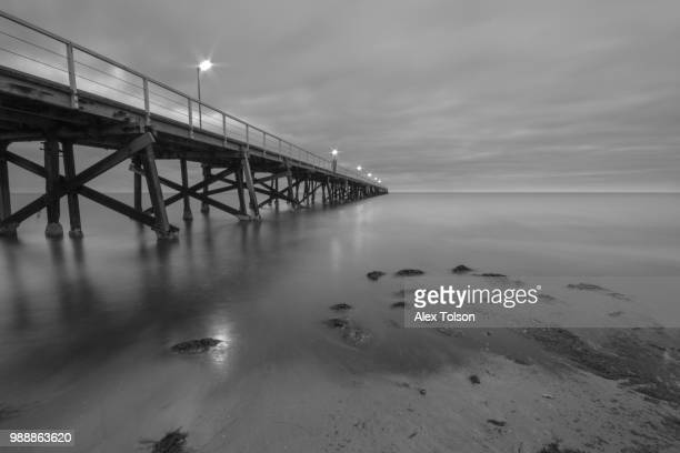 semaphore beach at sunset - semaphore stock pictures, royalty-free photos & images