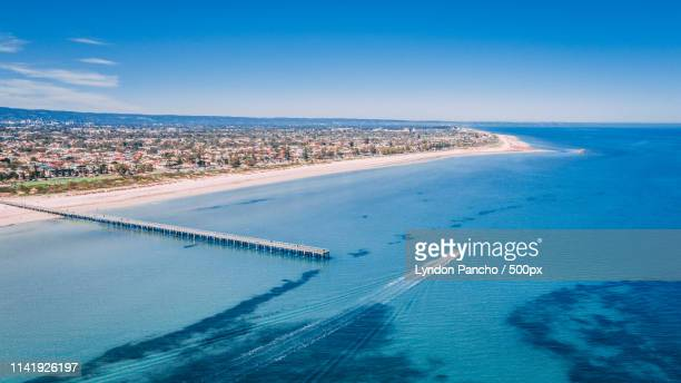semaphore beach - adelaide stock pictures, royalty-free photos & images