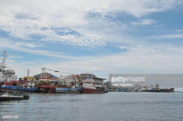 semarang harbour port. - barry crane stock-fotos und bilder