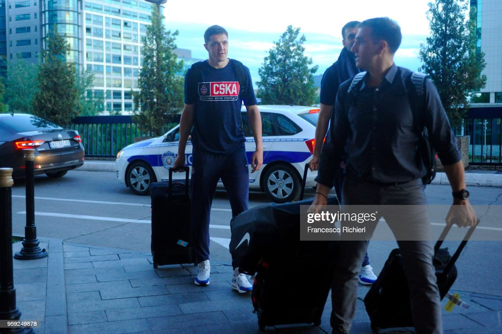 Semen Antonov, #11 of CSKA Moscow during the CSKA Moscow Arrival to participate of 2018 Turkish Airlines EuroLeague F4 at Hyatt Regency Hotel on May 16, 2018 in Belgrade, Serbia.