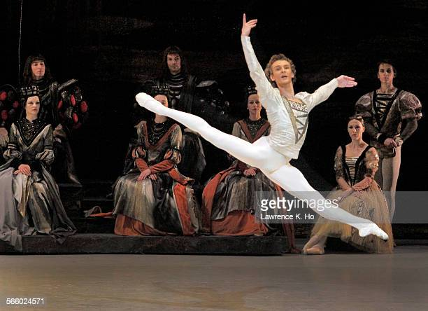 Semen Chudin with the ensemble in Act I Swan Lake by the Bolshoi at the Music Center in downtown LA on Jun 07 2012