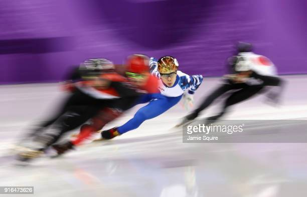 Semen Elistratov of Olympic Athlete from Russia competes during the Men's 1500m Short Track Speed Skating qualifying on day one of the PyeongChang...