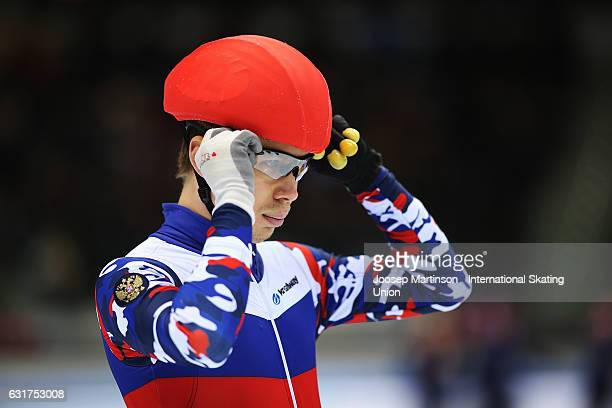 Semen Elistratov of Russia prepares in the Men's 3000m Super Final during day 2 of the European Short Track Speed Skating Championships at Palavela...
