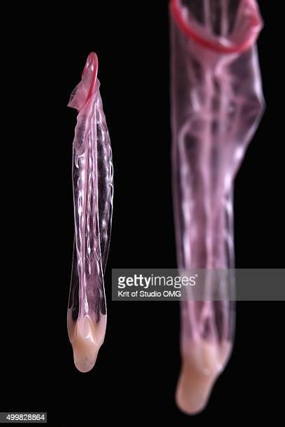 Semen in condom