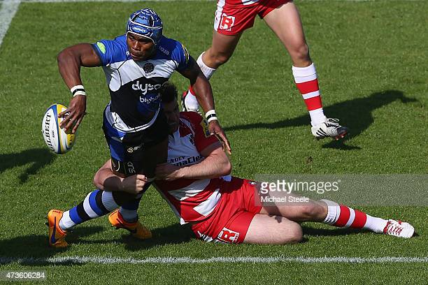 Semesa Rokoduguni of Bath looks for support during the Aviva Premiership match between Bath Rugby and Gloucester Rugby at the Recreation Ground on...