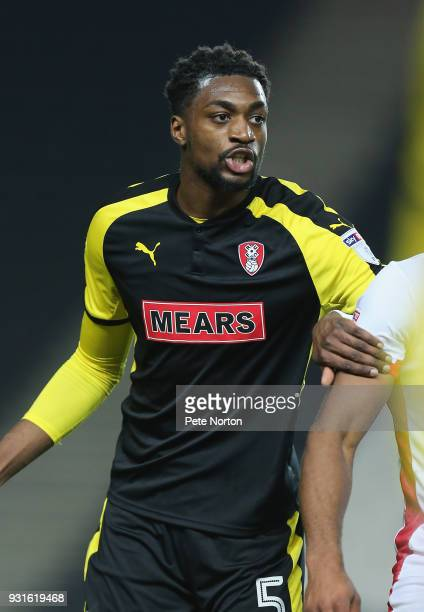 Semi Ajayi of Rotherham United in action during the Sky Bet League One match between Milton Keynes Dons and Rotherham United at StadiumMK on March 13...