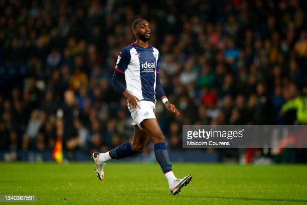 Semi Ajayi of West Bromwich Albion looks on during the Sky Bet Championship match between West Bromwich Albion and Derby County at The Hawthorns on...