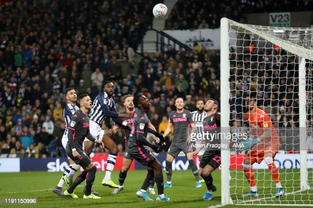 Semi Ajayi of West Bromwich Albion scores a goal to make it 10 during the Sky Bet Championship match between West Bromwich Albion and Leeds United at...