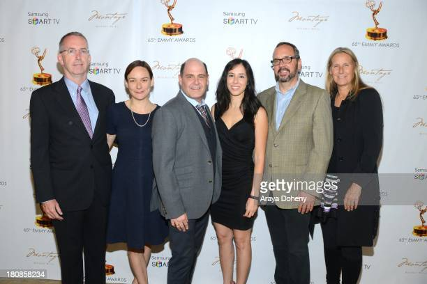 Semi Chellas Matthew Weiner Erin Levy Scott Hornbacher and Janet Leahy attend the Television Academy's Producers Peer Group Emmy Nominees Celebration...