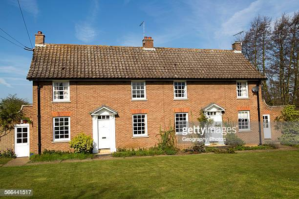 Semi detached housing Shottisham Suffolk England UK