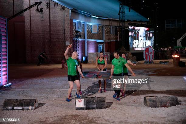 CHALLENGE Semi Finals Night 1 Episode 205 Pictured Kevin Bull Maggi Thorne Lance Pekus Michelle Warnky of team The Ninjas