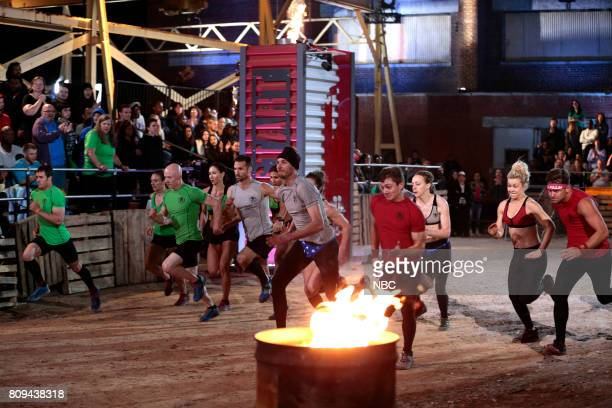 CHALLENGE Semi Finals Night 1 Episode 205 Pictured Lance Pekus Michelle Warnky Kevin Bull Maggi Thorne of team The Ninjas Kyle Wooch Graff of team...