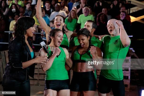 CHALLENGE Semi Finals Night 1 Episode 205 Pictured Sideline Reporter Marjorie MJ Acosta Michelle Warnky Maggi Thorne Meagan Martin Lance Pekus Kevin...