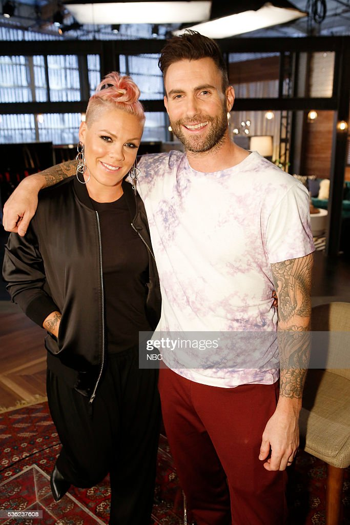 THE VOICE -- 'Semi Finals Reality' -- Pictured: (l-r) P!nk, Adam Levine --