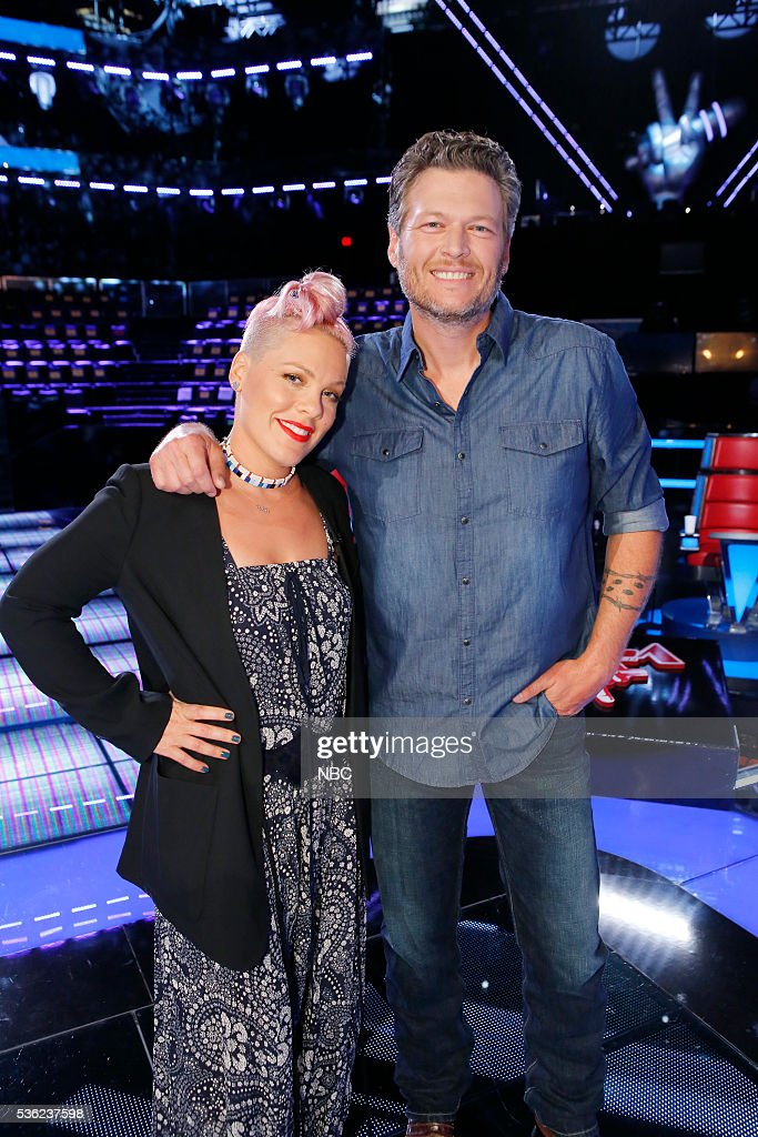 THE VOICE -- 'Semi Finals Reality' -- Pictured: (l-r) P!nk, Blake Shelton --