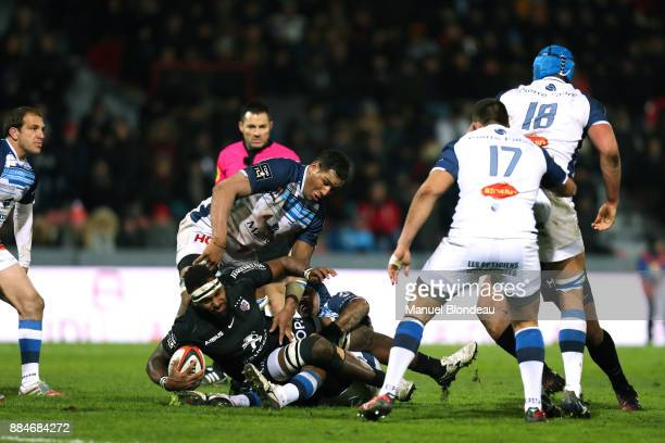 Semi Kunatani of Toulouse and Mathieu Babillot of Castres during the Top 14 match between Toulouse and Castres on December 2 2017 in Toulouse France