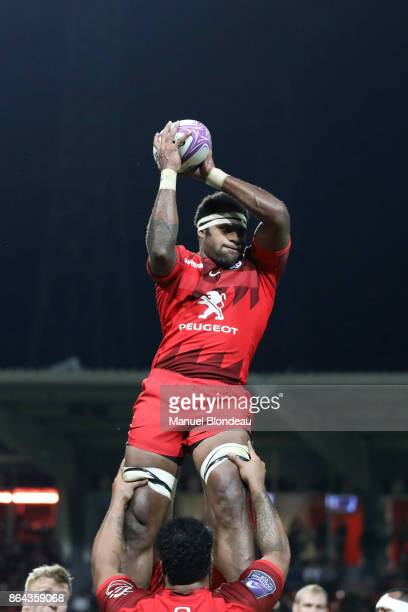 Semi Kunatani of Toulouse during the European Challenge Cup match between Stade Toulousain and Cardiff Blues at Stade Ernest Wallon on October 20...