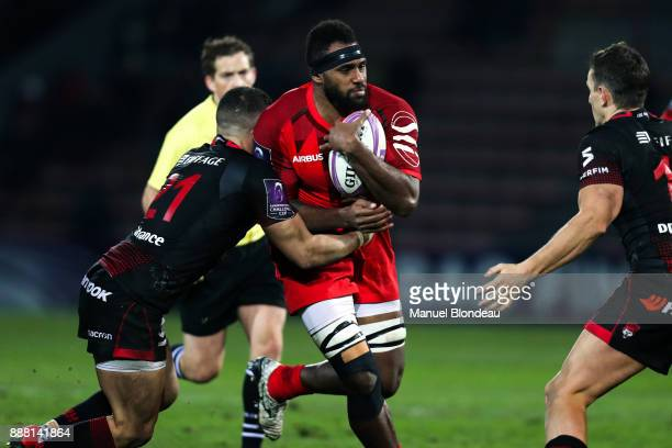 Semi Kunatani of Toulouse during the European Challenge Cup match between Toulouse and Lyon on December 7 2017 in Toulouse France