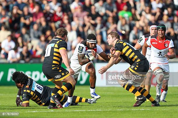 Semi Kunatani of Toulouse during the European Champions Cup between Toulouse and Wasps at Stade Ernest Wallon on October 23 2016 in Toulouse France