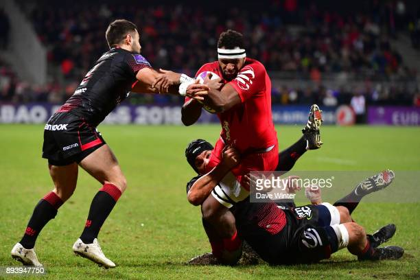 Semi Kunatani of Toulouse during the European Rugby Challenge Cup match between Lyon OU and Stade Toulousain at Stade Gerland on December 16 2017 in...
