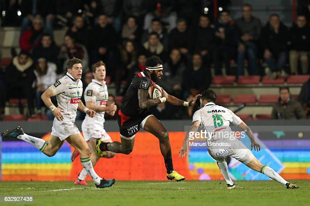 Semi Kunatani of Toulouse during the French Top 14 match between Toulouse and Pau at Stade Ernest Wallon on January 28 2017 in Toulouse France