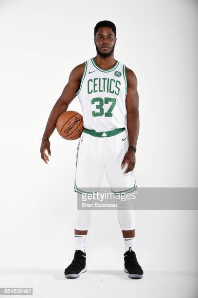 Semi Ojeleye of the Boston Celtics poses for a portrait during the 201718 NBA Media Day on September 25 2017 at the TD Garden in Boston Massachusetts...