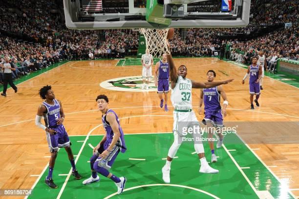 Semi Ojeleye of the Boston Celtics shoots the ball against the Sacramento Kings on November 1 2017 at the TD Garden in Boston Massachusetts NOTE TO...
