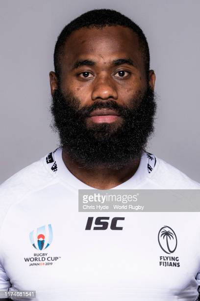 Semi Radradra of Fiji poses for a portrait during the Fiji Rugby World Cup 2019 squad photo call on September 14, 2019 in Abashiri, Hokkaido, Japan.