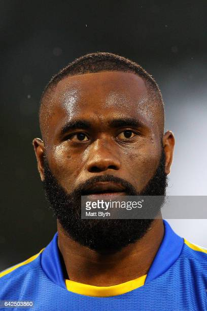 Semi Radradra of the Eels looks on before the NRL Trial match between the Penrith Panthers and Parramatta Eels at Pepper Stadium on February 18 2017...