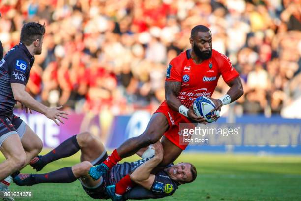 Semi Radradra of Toulon during the European Champions Cup match between Toulon and Scarlets on October 15 2017 in Toulon France
