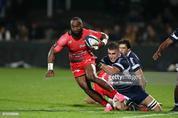 Semi Radradra of Toulon during the French Top 14 match between Agen and Toulon at Stade Armandie on November 4 2017 in Agen France