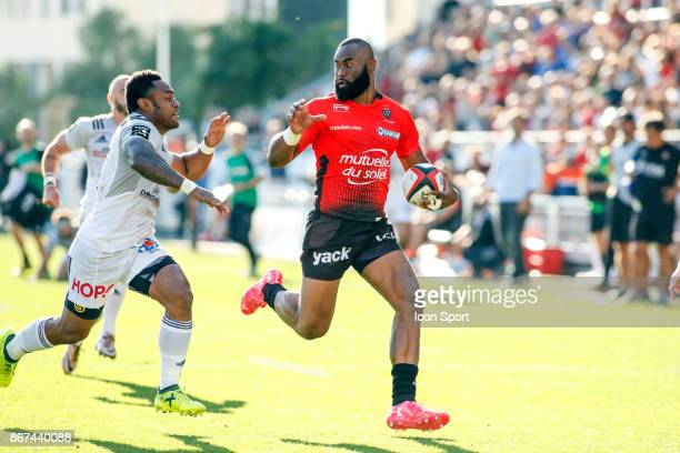 Semi Radradra of Toulon during the Top 14 match between RC Toulon and CA Brive at Felix Mayol Stadium on October 28 2017 in Toulon France