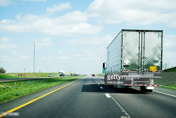 Semi Traveling on an interstate highway