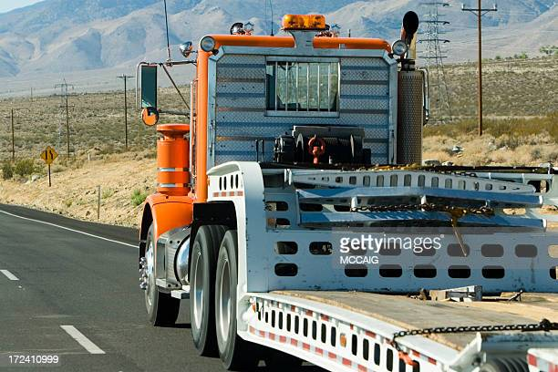 semi truck - tow truck stock photos and pictures