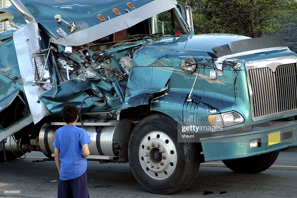 Semi Wreck : Stock Photo