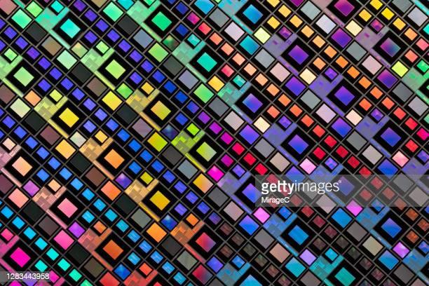semiconductor wafer macrophotography - 複雑 ストックフォトと画像