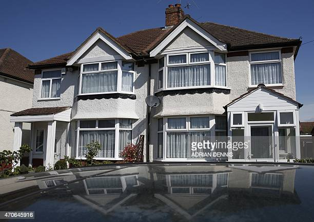 A semidetached house the registered address of Nav Sarao Futures Ltd a trading company operated by Navinder Singh Sarao is pictured in Hounslow west...
