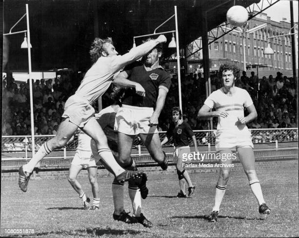 Semifinal of Ampol Cup Soccer at Wentworth ParkAPIA Leichardt vs St George Budapest March 03 1974