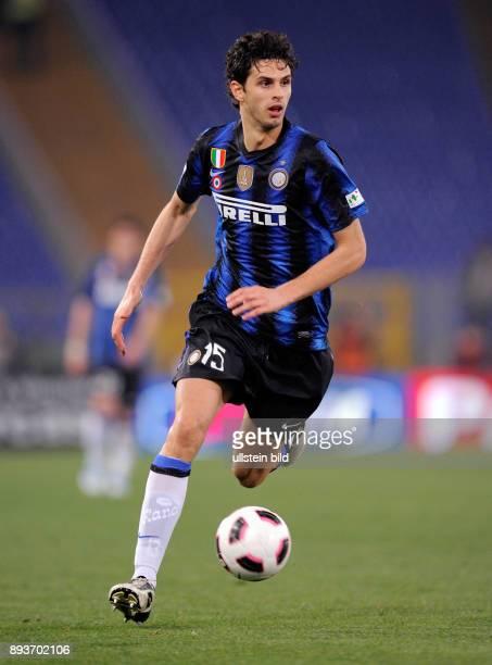 FUSSBALL INTERNATIONAL Semifinale Coppa Italia SAISON AS Rom AC Mailand Andrea Ranocchia
