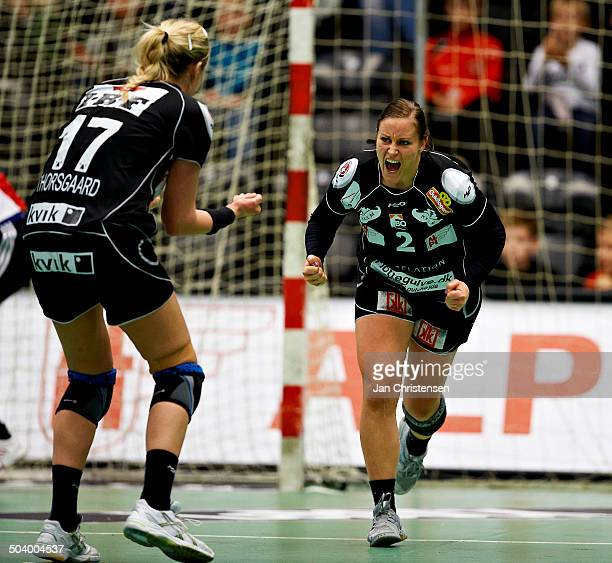 Semifinale EHF Cup - Alette Stang, FC Midtjylland celebrating a goal. © Jan Christensen/Frontzonesport.