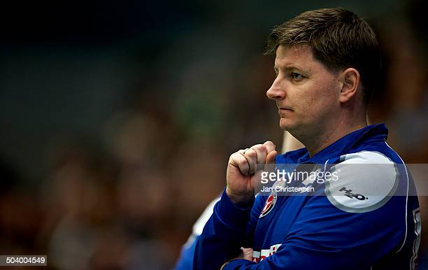 Semifinale EHF Cup - Cheftræner Kenneth Jensen, FC Midtjylland. © Jan Christensen/Frontzonesport.