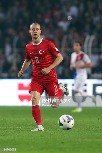 Semih Kaya of Turkey in action during the FIFA 2014 World Cup Qualifier match at the Sukru Saracoglu Stadium on October 15 2013 in Istanbul Turkey