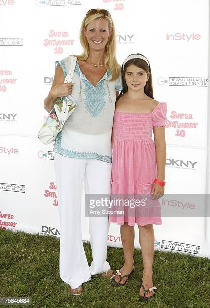 SemiHomemade host Sandra Lee and Michaela Cuomo attend the Ovarian Cancer Research Fund Super Saturday 10 at Nova's Art Project on July 28 2007 in...