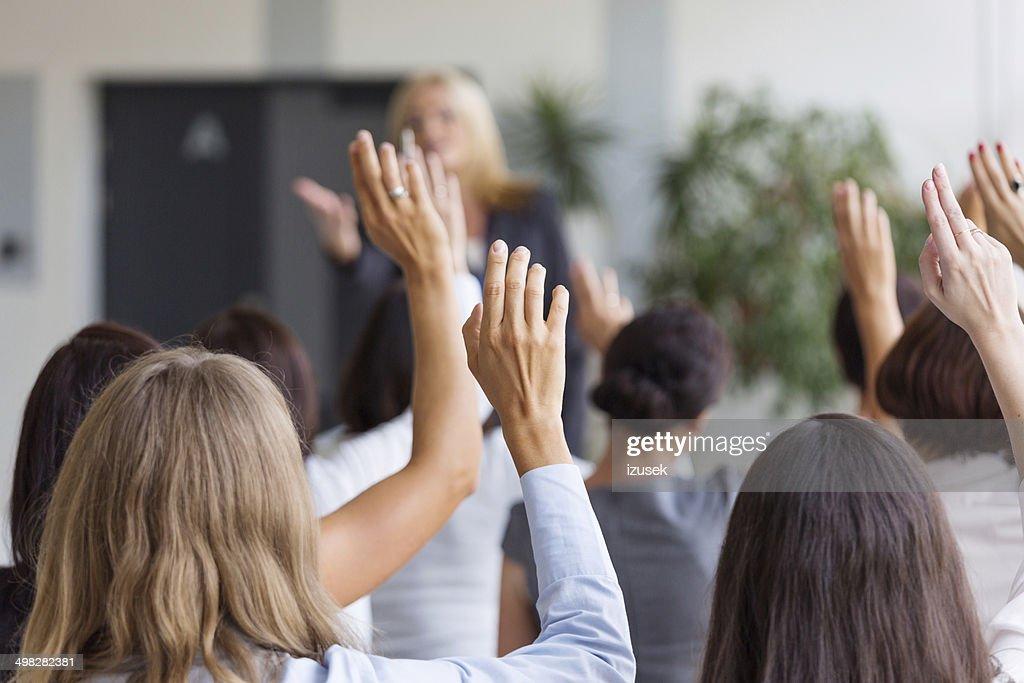 Seminar for women : Stock Photo