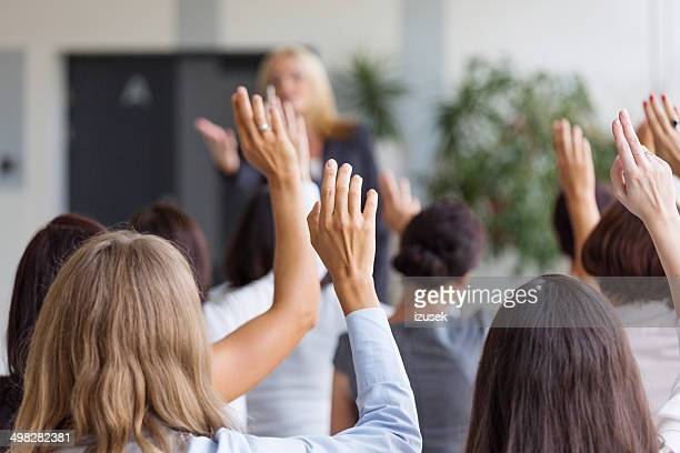 seminar for women - press room stock pictures, royalty-free photos & images