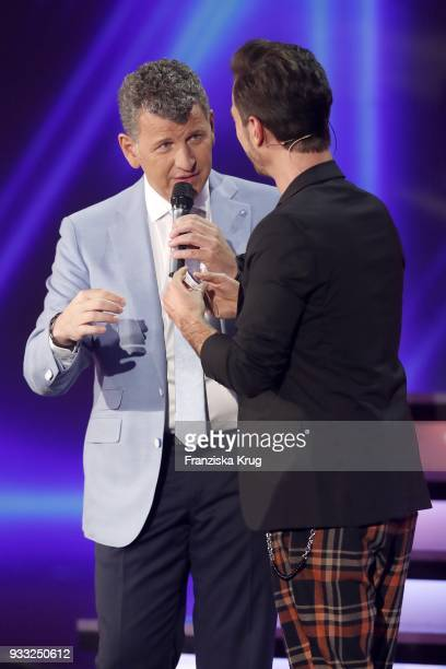 Semino Rossi and Florian Silbereisen during the TV show 'Heimlich Die grosse SchlagerUeberraschung' on March 17 2018 in Munich Germany