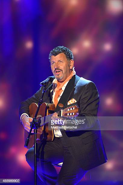 Semino Rossi performs during the rehearsal of the tv show 'Stefanie Hertel Meine Stars' on September 23 2014 in Zwickau Germany